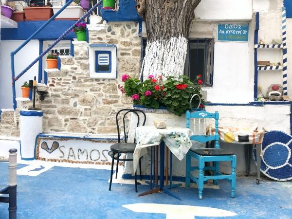 Samos-Pythagorion-Blue-Street-600
