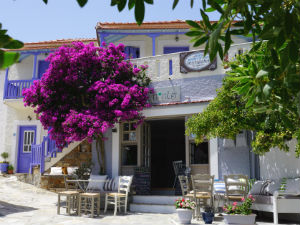 Alonissos vakantie restaurant in de oude stad