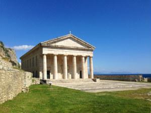 Corfu het oude fort in Kerkyra