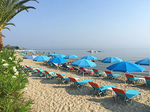 Corfu het strand van Roda
