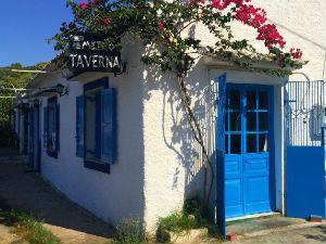 Corfu taverne in Acharavi tijdens vakantie