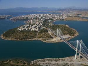 Chalkida de hoofdstad van Evia
