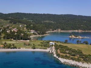 Ellinika op Evia met het eilandje