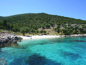 Agios Nikolaos beach op Ithaki