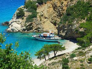 Karpathos Apella beach tijdens vakantie