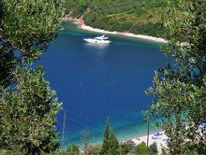 Kefalonia Antisamos beach tijdens vakantie