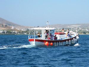 Paros vakantie vissersboot bij Naoussa