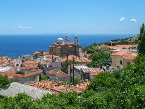 Marathokampos uitzicht bij vakantie op Samos