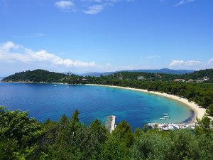Koukounaries beach op Skiathos