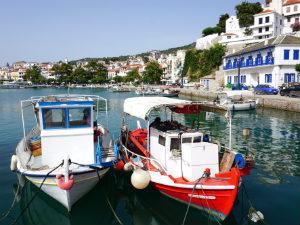 Vissersbootjes in Skopelos stad