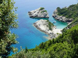 Strand op Skopelos Griekenland