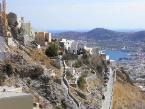 Uitzicht vanaf Ano Syros