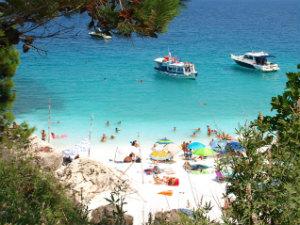 Thassos Saliara beach tijdens vakantie