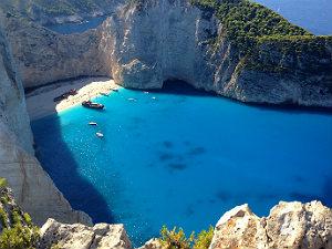 Zakynthos vakantie Shipwreck beach