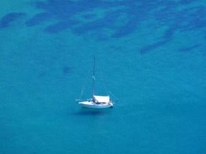 Zeilen Griekenland zeilboot tijdens vakantie