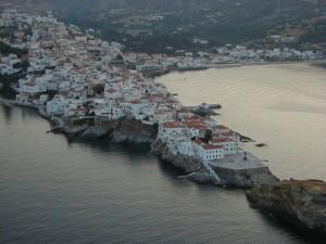 Andros Chora overzicht vakantie