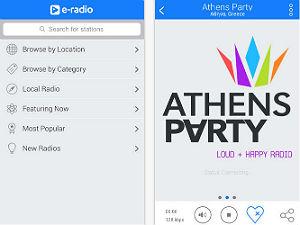 Apps voor op vakantie radio griekenland