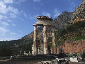 Delphi in Centraal Griekenland de Tholos