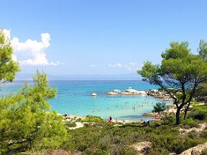 Chalkidiki vakantie strand van Kavourotrypes