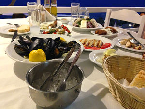 Chalkidiki restaurant Afytos tijdens vakantie