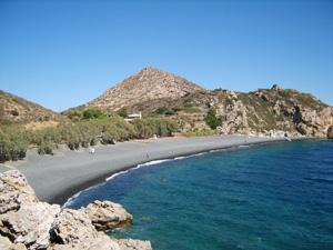 Chios het zwarte strand Mavro Volia