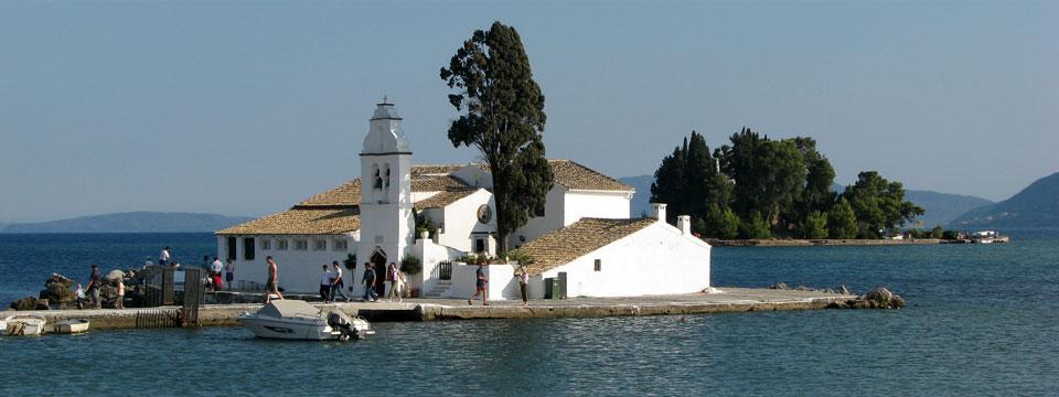 Corfu vakantie vlacherna pontikonissi