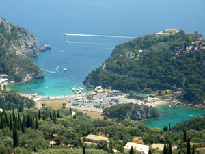 Corfu Paleokastritsa vanaf Bella Vista