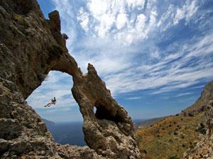 Kalymnos rotsen beklimmen