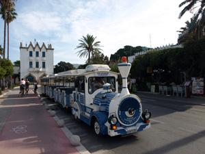 Het treintje in Kos-stad op de Dodekanesos