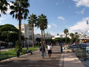 Kos stad de gezellige haven