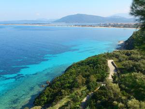Lefkas de mooie kust van Agios Nikitas.