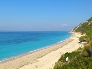 Lefkas vakantie Pefkoulia beach