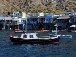 Het vissersdorp Klima op Milos.