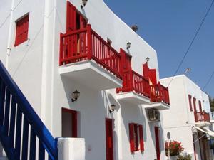 Chora op het Cycladen eiland Mykonos.