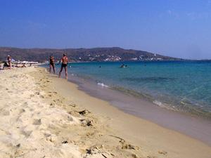 Naxos het zandstrand van Agios Prokopios