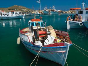 Paros het haventje van Naoussa