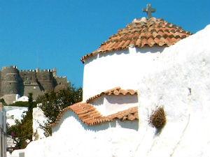 Kerk op Patmos Griekenland