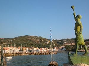 Paxos het standbeeld in Gaios