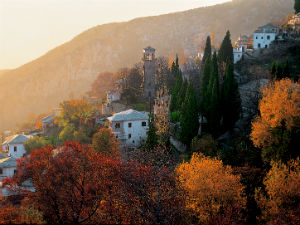 Makrinitsa in de herfst op Pilion