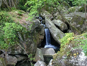 Waterval in Pilion Griekenland