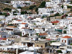 Rhodos de oude stad van Lindos