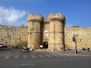 Rhodos vakantie Rhodos stad poort