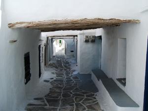Sifnos een wandelgang in het Kastro