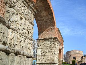 Rotonda en Galerius arch in Thessaloniki