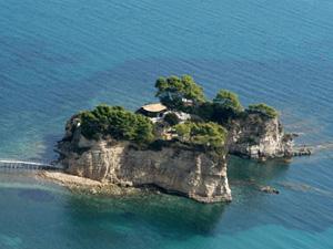 Zakynthos eilandje bij Agios Sostis