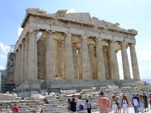 De Pathenon op de Akropolis in Athene.