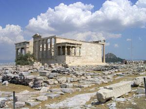 De tempel van Nike op de Akropolis in Athene.