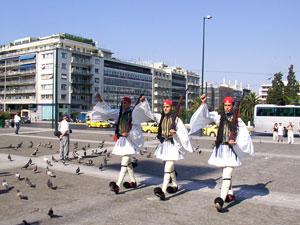 Syntagma plein in het centrum van Athene.
