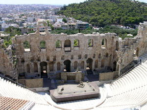 Herodeion (Irodion) amfi theater in Athene.