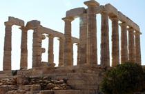 Attica vakantie sounio Poseidon tempel